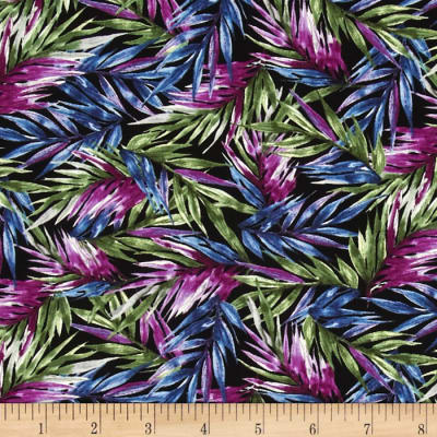 Butterfly Forest Fronds Black/Multi
