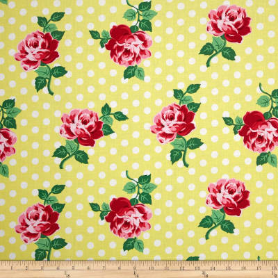 Michael Miller Retro Florals Lucy Sunny