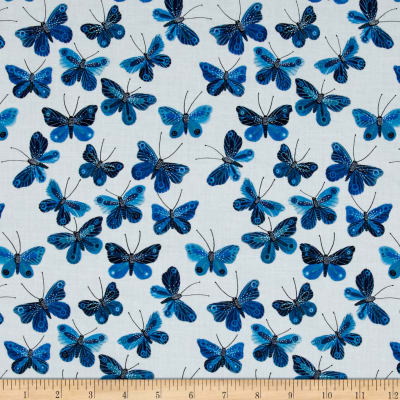 Cloud 9 Organic Moody Blues Butterflies White