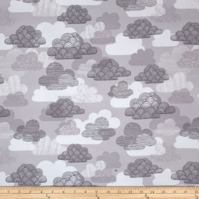 Cloud 9 Organic First Light Flannel Passing Clouds Gray