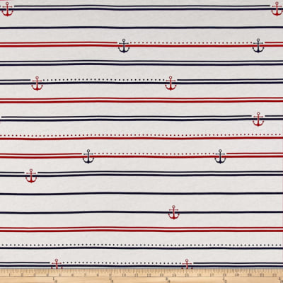 Nautical Collection Jersey Knit Stripes Red/Blue