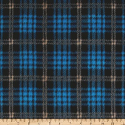 Fleece Plaid Blue/Black