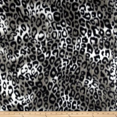 Fleece Skins Leopard Black