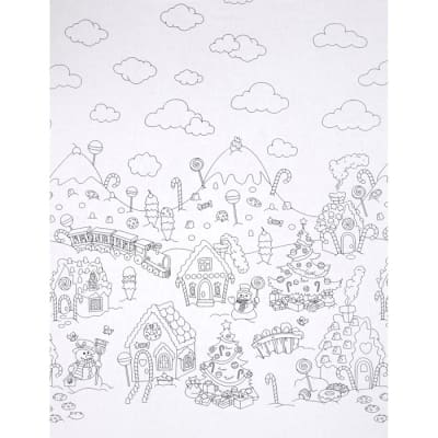 Michael Miller Color Me Christmas Candy Border