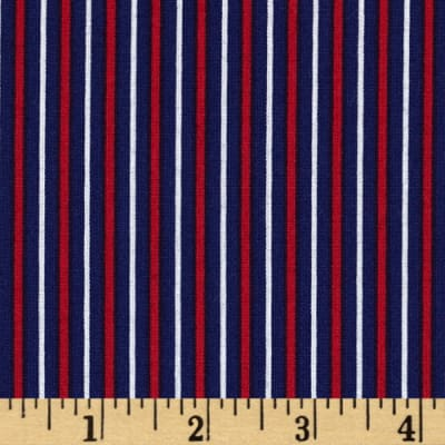 Fan-Tastic Pinstripe Blue/Red