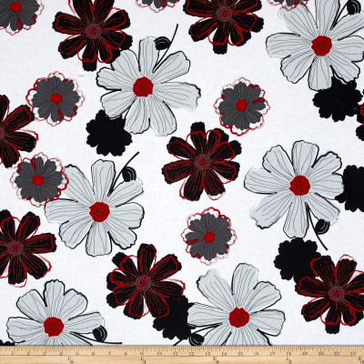 Cherry Pop Large Floral White