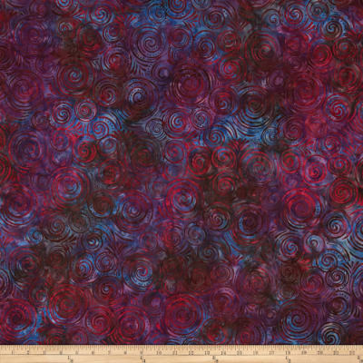 Wilmington Batiks Spinning Circles Purple/Red