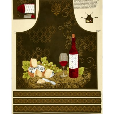 It's Wine O'Clock Adult Apron Panel Multi