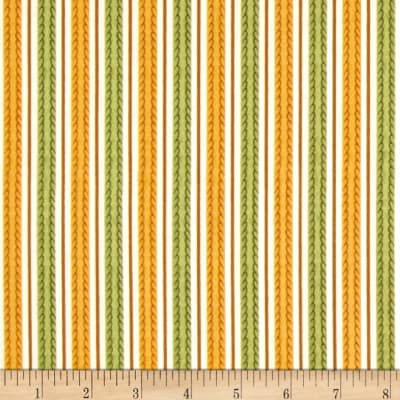 Feline Fine Stripes Gold/Green