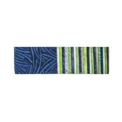 "#1 Fan Essential Gems 2.5"" Strips Blue/Lime/Green"