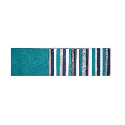 "#1 Fan Essential Gems 2.5"" Strips Teal/Gray/White"