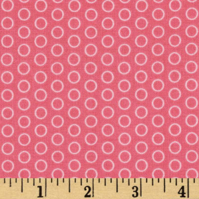 Riley Blake Circle Dot Hot Pink