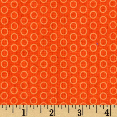 Riley Blake Circle Dot Orange
