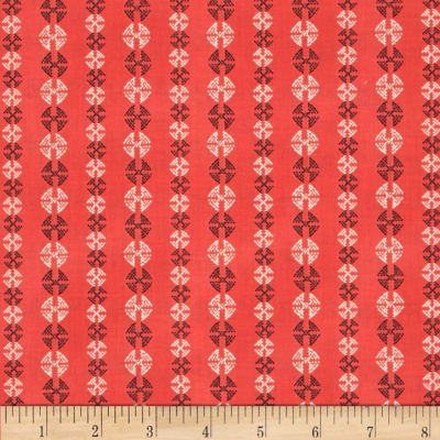 Amy Butler Bright Heart Stitchy Dots Coral