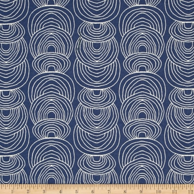 Cloud 9 Organic Rain Walk Ripple Canvas Navy