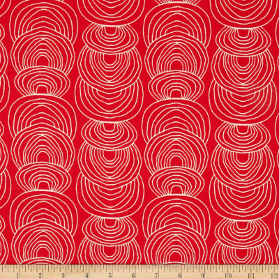 Cloud 9 Organic Rain Walk Ripple Canvas Coral