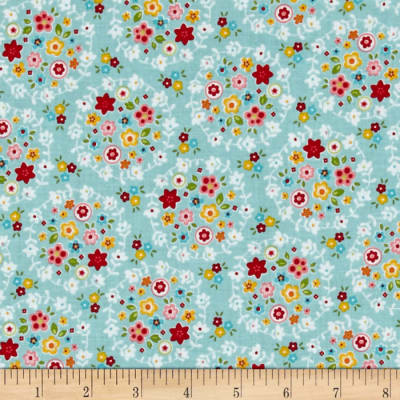 Riley Blake Bloom & Bliss Wreath Blue