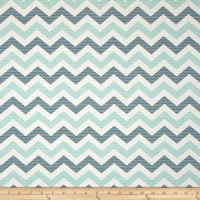 Riley Blake School Days Chevron Blue