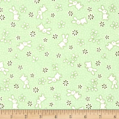 Penny Rose Toy Chest Bunnies & Flowers Green