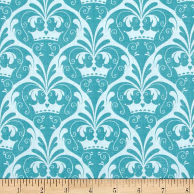 Riley Blake Dream and a Wish Damask Blue