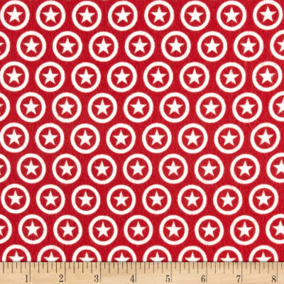 Riley Blake Lucky Star Flannel Circle Red