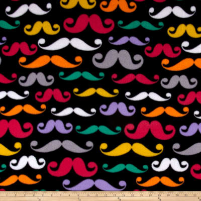 Retro Fleece Mustache  Black/Multi