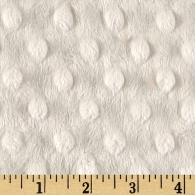 Shannon Minky Cuddle Dimple Extra Wide Ivory