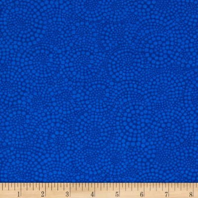 Timeless Treasures Pop Basic Circle Dots Blue