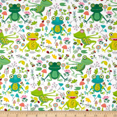 Timeless Treasures Frogs White