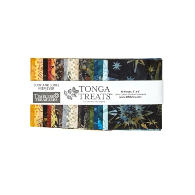 "Timeless Treasures Tonga Treats Batik Painter 5"" Squares"
