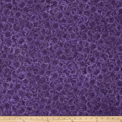 Bali Batiks Handpaints Circles Grape