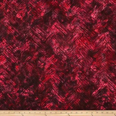 Bali Batiks Handpaints Chevron Brush Crimson
