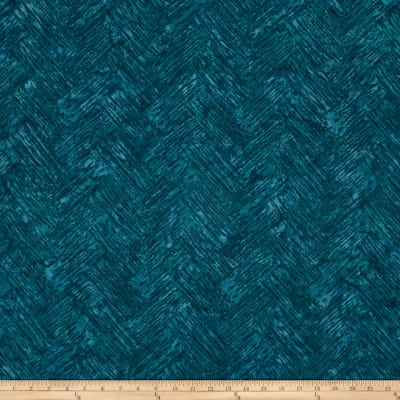 Bali Batiks Handpaints Chevron Brush Aquamarine