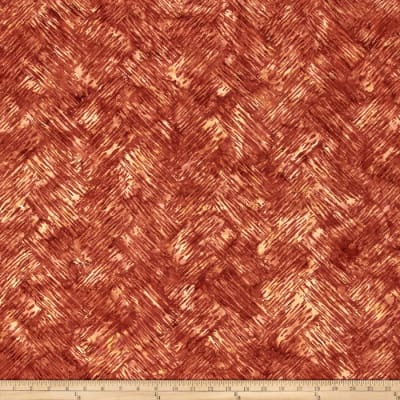 Bali Batiks Handpaints Chevron Brush Pecan