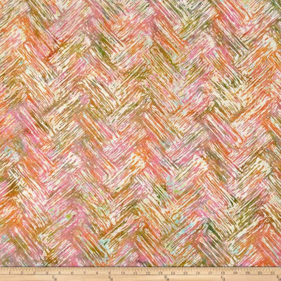 Bali Batiks Handpaints Chevron Brush Parfait