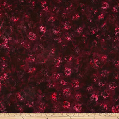 Bali Batiks Handpaints Bottled Brush Double Border Crimson