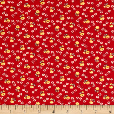 Summer Days Tiny Flowers Red