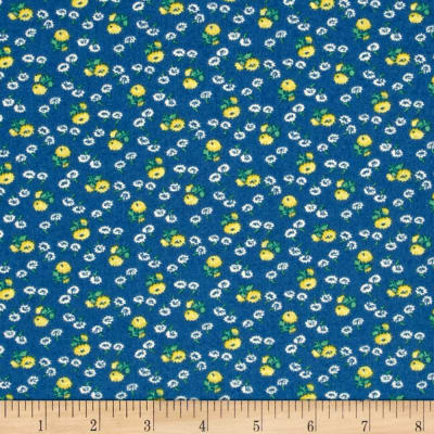 Summer Days Tiny Flowers Navy