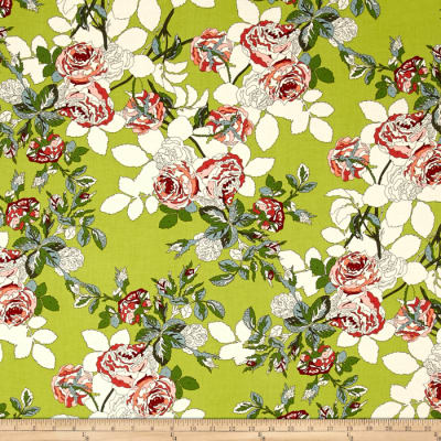 Moda Purebred Blanket of Flowers Pasture Green