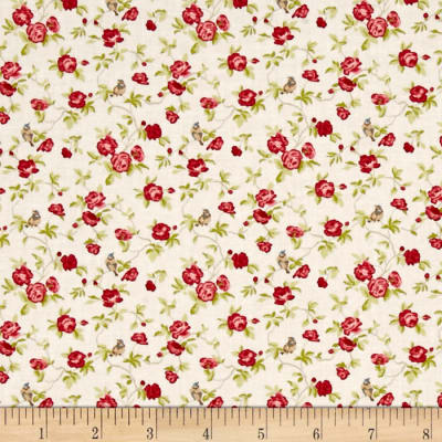 Moda Windermere Prints Songbird Linen white