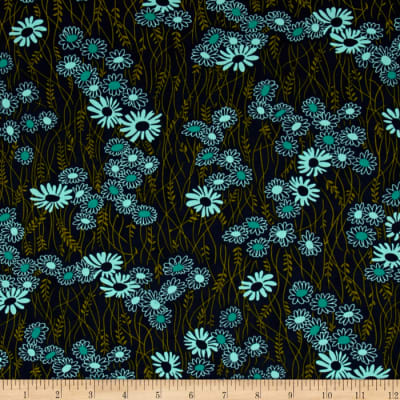 Moda Simply Colorful II Wildflower Navy
