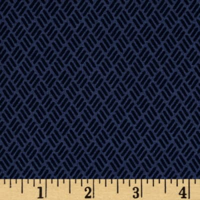 Moda Simply Colorful II Hash Marks Navy