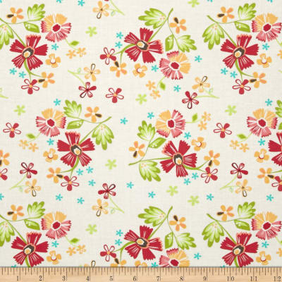 Moda Prairie Large Floral Bright/White