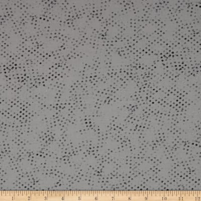Moda Modern Background Ink Stamped Dots Steel