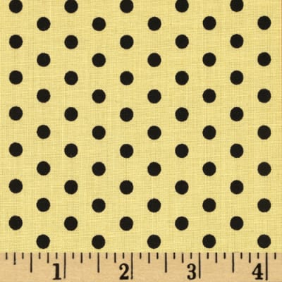 Anapola Polka Dot Black/Yellow