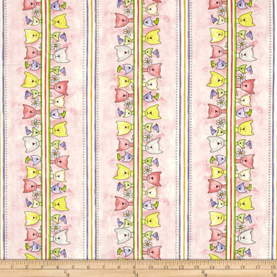 Happy Catz Cat Border Pink