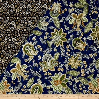 Mackenzie Double Sided Quilted Jacobean Navy