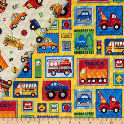 Truck Stop Double Sided Quilted Car Patchwork Multi
