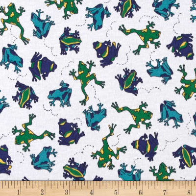 Stretch Jersey Knit Frogs