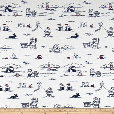 T-shirt Children's Knit Nautical Bear Navy